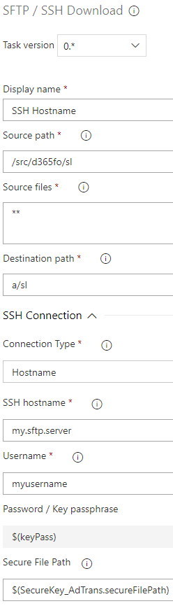 SFTP Download with hostname option